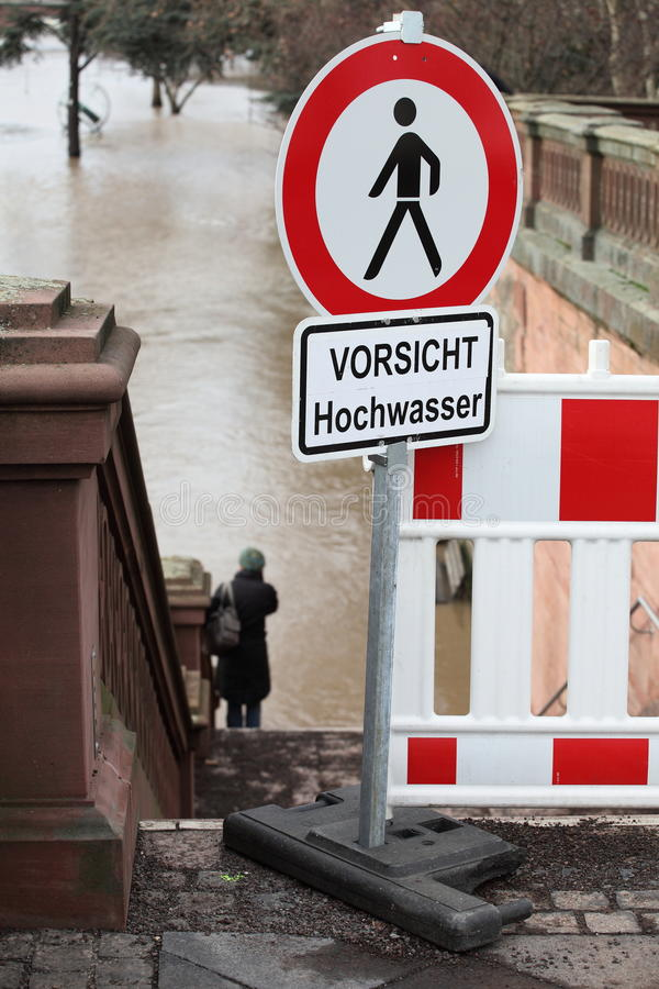 Attention High Water stock images