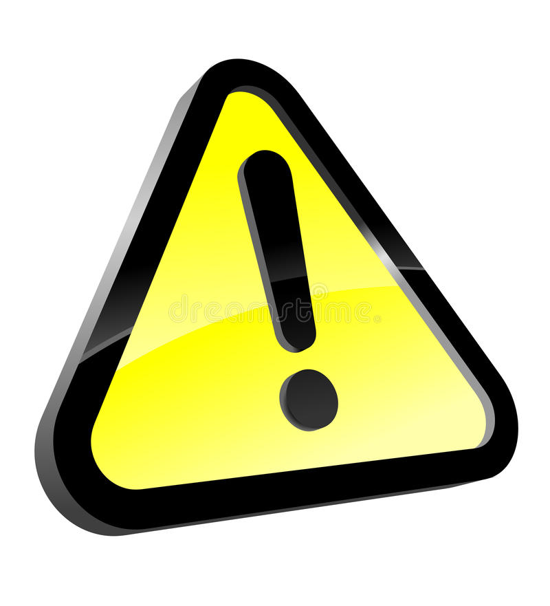 Attention icon stock illustration