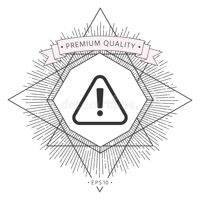 Attention Icon Symbol Stock Vector Illustration Of Important