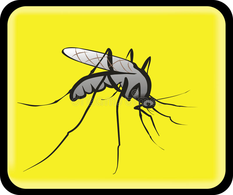 Attention mosquitoes sign vector illustration