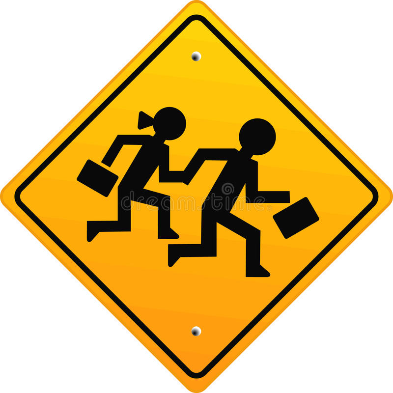 Download Attention schoolchildren stock vector. Illustration of street - 10881670