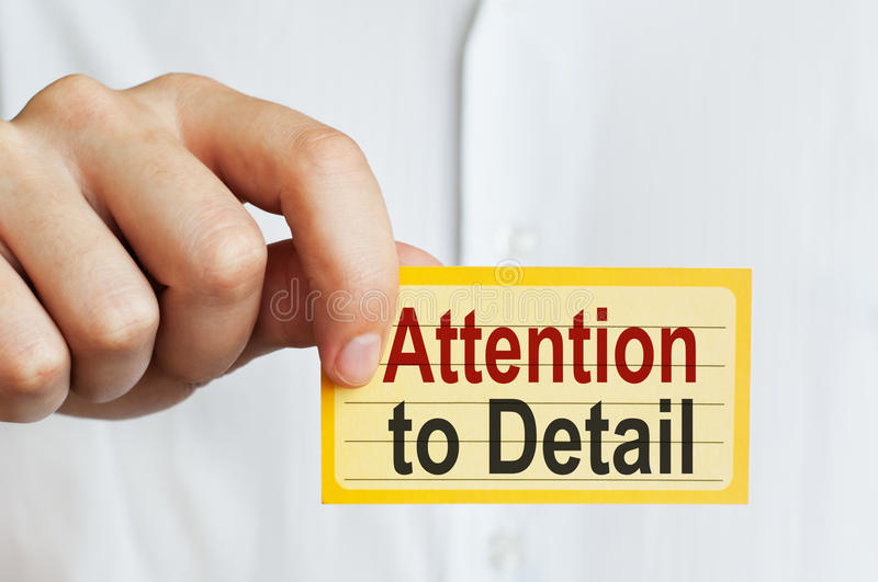 Attention to Detail royalty free stock photo