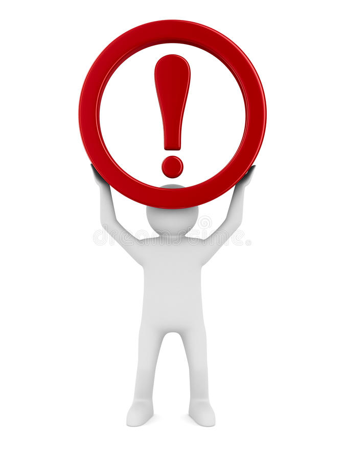 Download Attention. Traffic Sign On White Background Stock Illustration - Image: 38036114