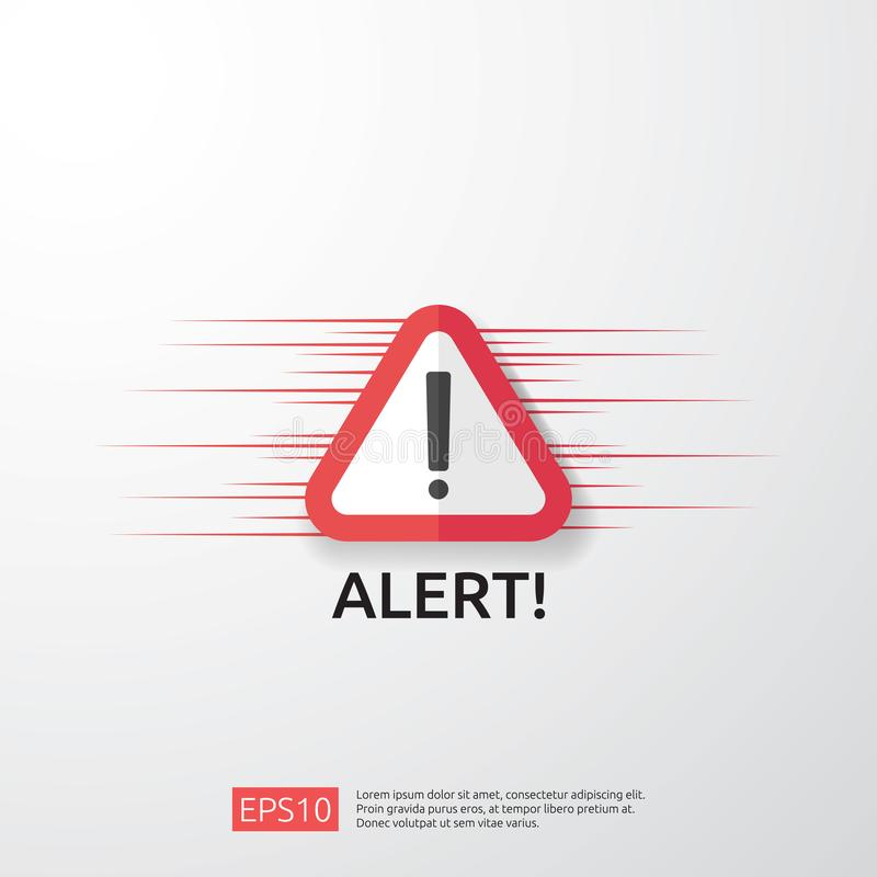 Free Attention Warning Attacker Alert Sign With Exclamation Mark. Beware Alertness Of Internet Danger Symbol. Shield Line Icon For VPN Royalty Free Stock Image - 146370186