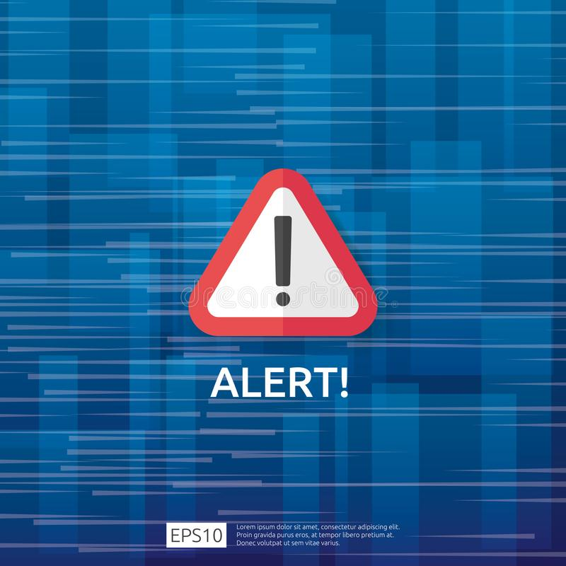 Free Attention Warning Attacker Alert Sign With Exclamation Mark. Beware Alertness Of Internet Danger Symbol. Shield Line Icon For VPN Royalty Free Stock Image - 146373236