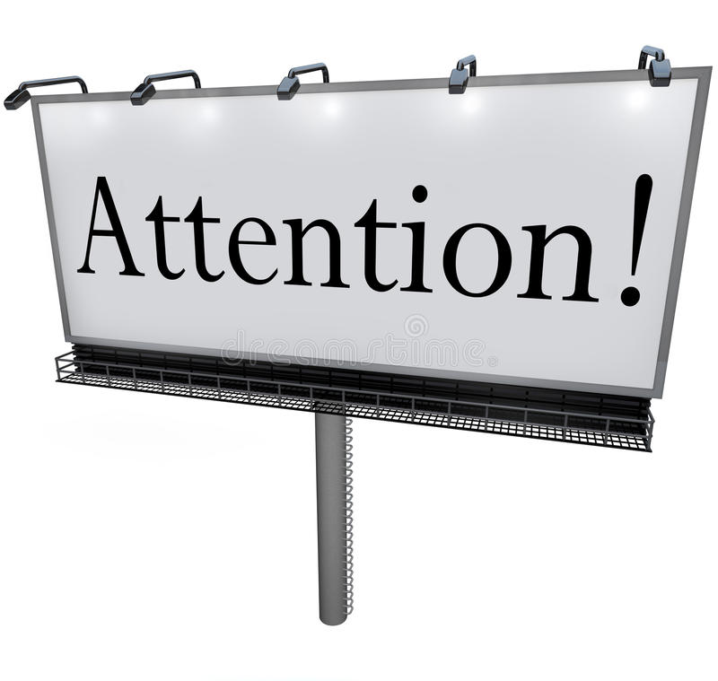 Download Attention Word On Billboard Special Announcement Urgent Message Stock Illustration - Image: 31478899