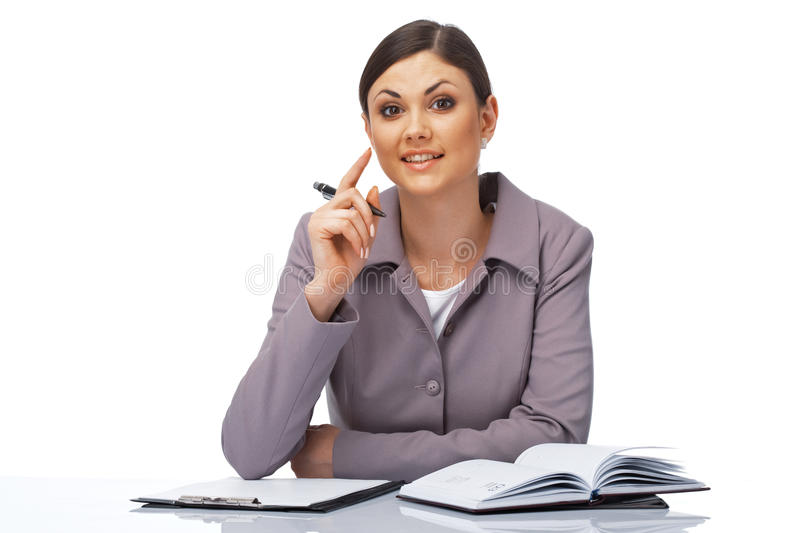 Download Attentive Businesswoman Royalty Free Stock Images - Image: 13862419