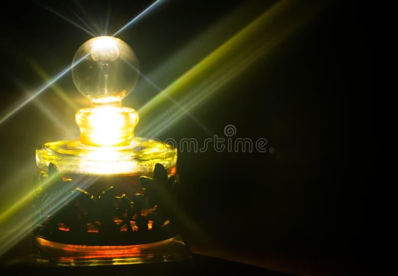 Atter bottle. Atter perfume bottle with light reflection royalty free illustration
