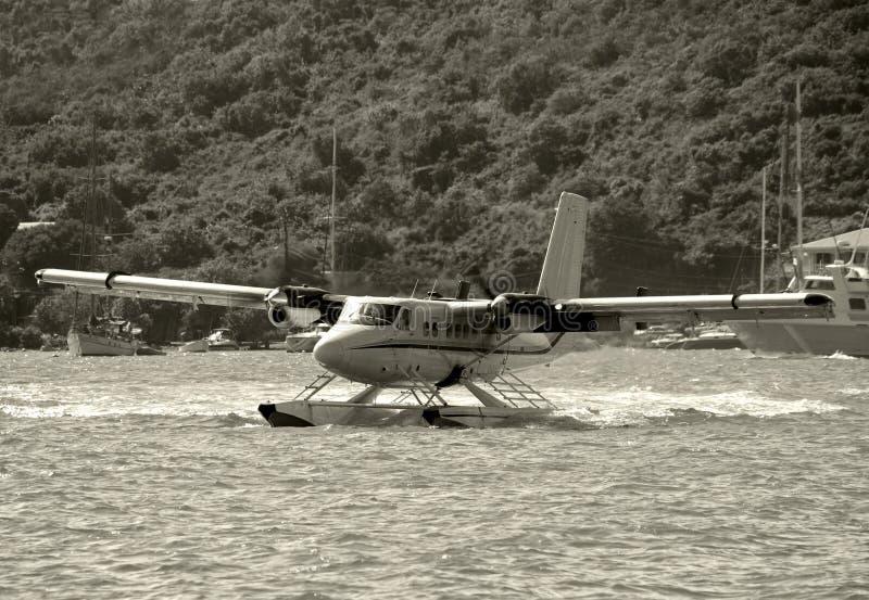 Atterraggio del Seaplane fotografia stock
