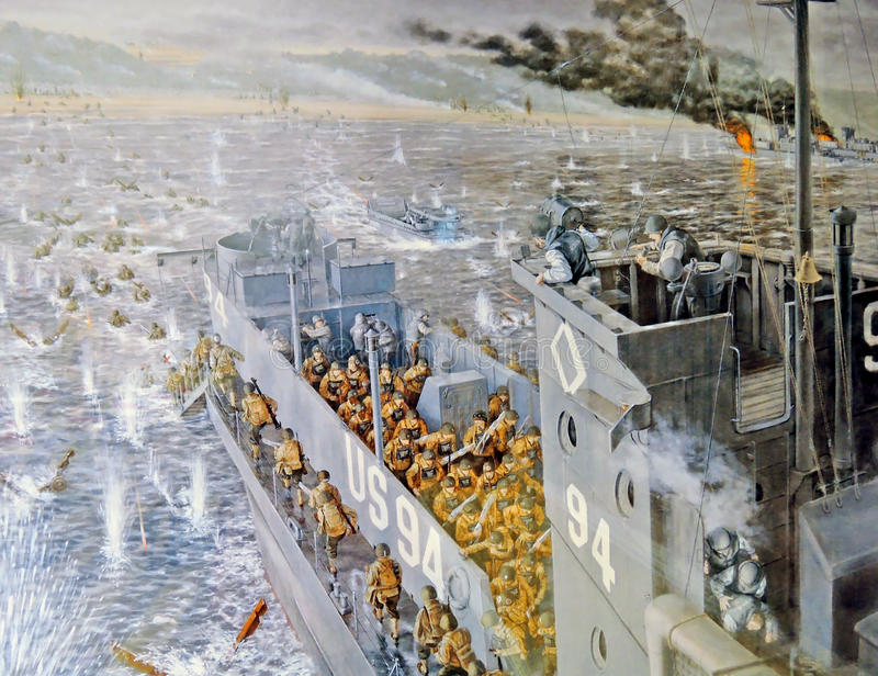 Atterraggio della Normandia immagini stock libere da diritti
