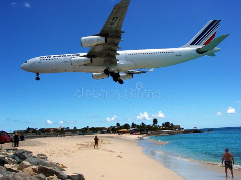 Atterraggio della st Maarten immagini stock libere da diritti
