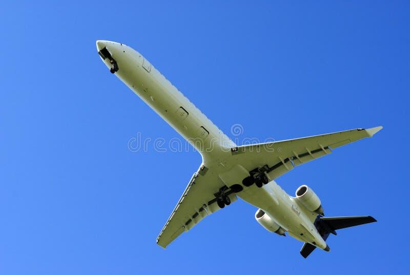 Atterraggio di aeroplano fotografie stock libere da diritti