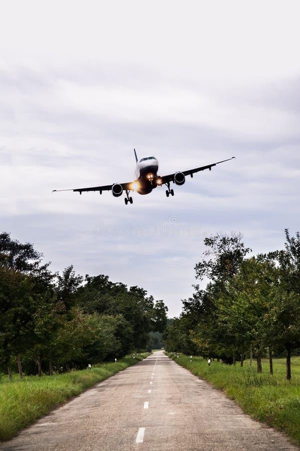 atterraggio di emergenza fotografie stock libere da diritti