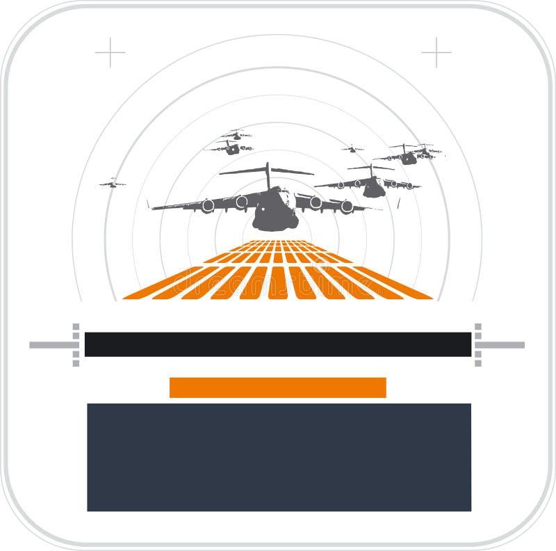 Atterraggio di velivoli illustrazione di stock