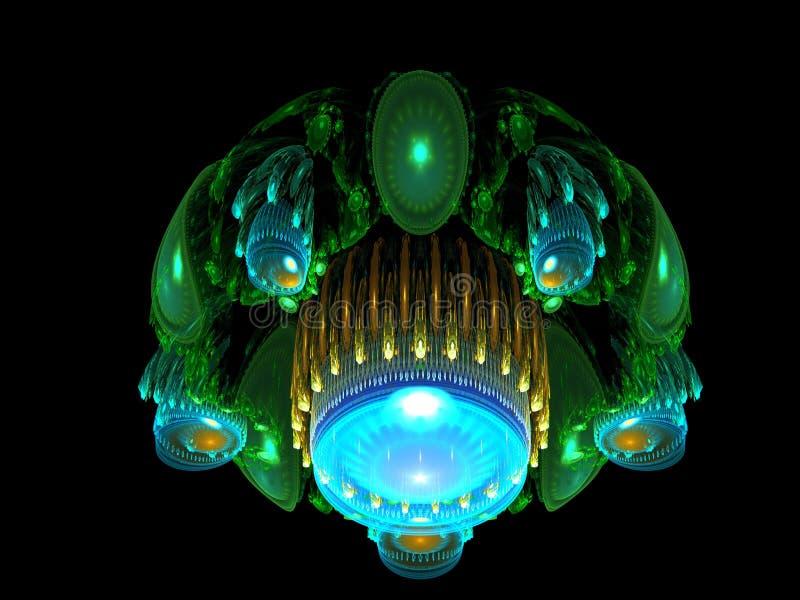 Atterraggio straniero della nave spaziale royalty illustrazione gratis