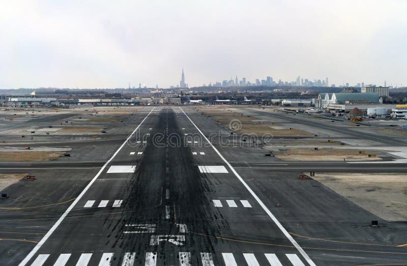 Atterrissage chez JFK image libre de droits