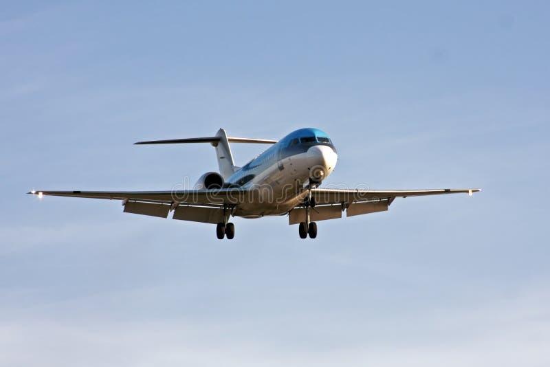 Atterrissage d'avion photos stock