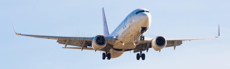 Atterrissage d'avion d'Air Europa image libre de droits