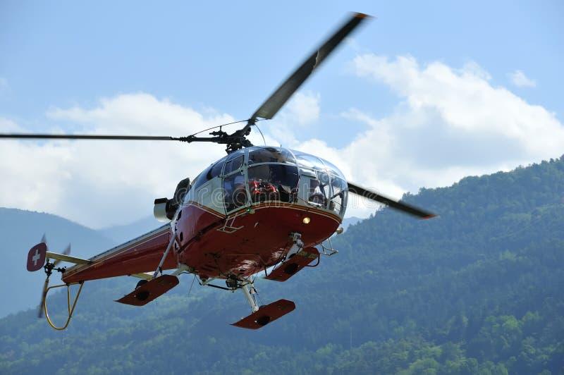 Atterrissage d'hélicoptère photos stock