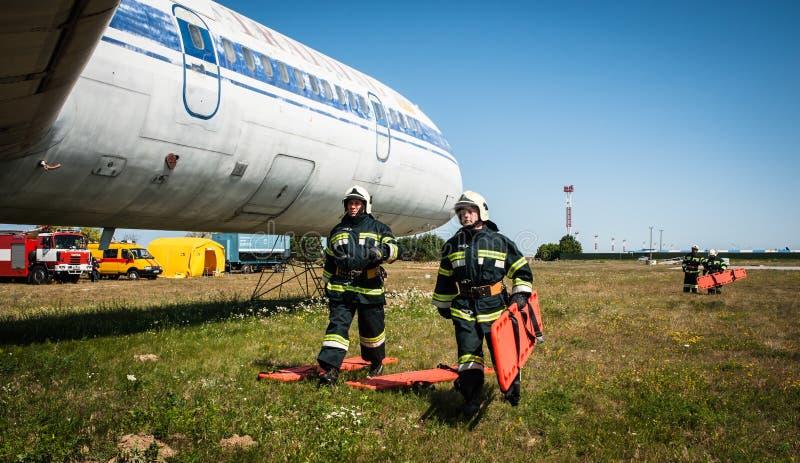 atterrissage d'urgence photo stock