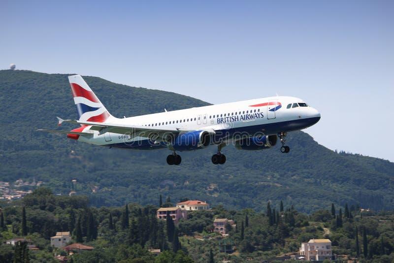 Atterrissage de British Airways photographie stock libre de droits