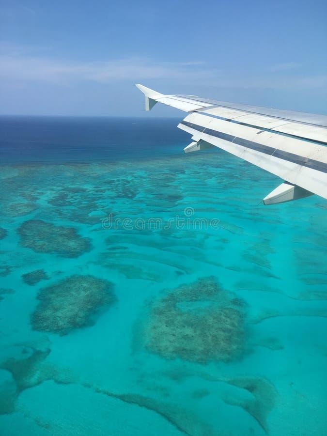 Atterrissage de Cancun photos libres de droits