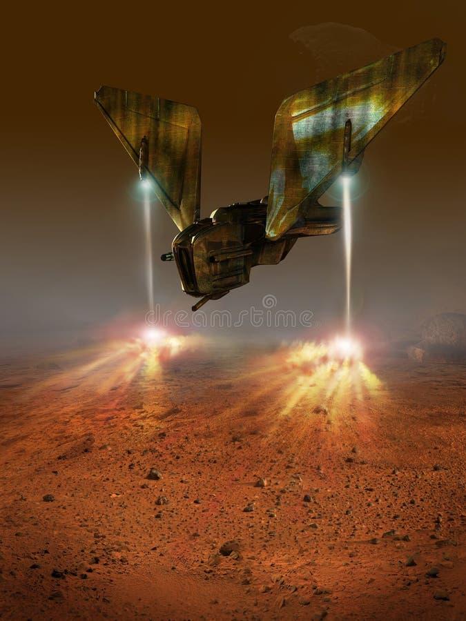 Atterrissage de Mars illustration stock. Illustration du ...