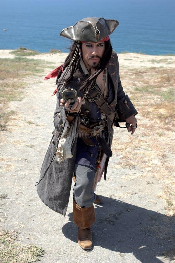 Atterrissage de pirate photographie stock