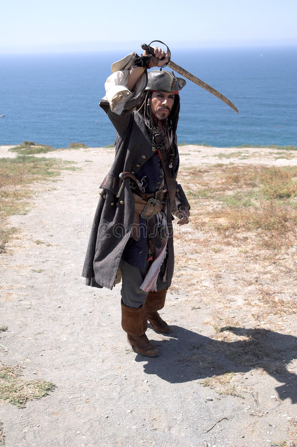 Atterrissage de pirate images stock