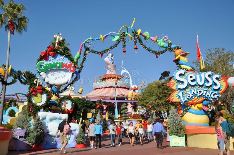 Atterrissage de Seuss à Orlando universel image libre de droits