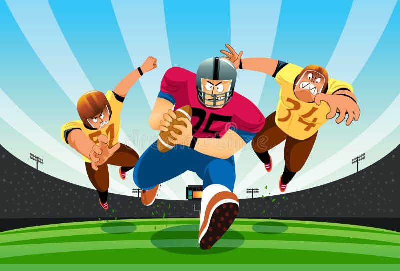 Atterrissage du football ! illustration stock