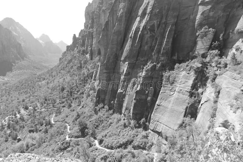 Atterrissage du ` s d'ange et Rim Trail - le Zion occidentaux photographie stock libre de droits