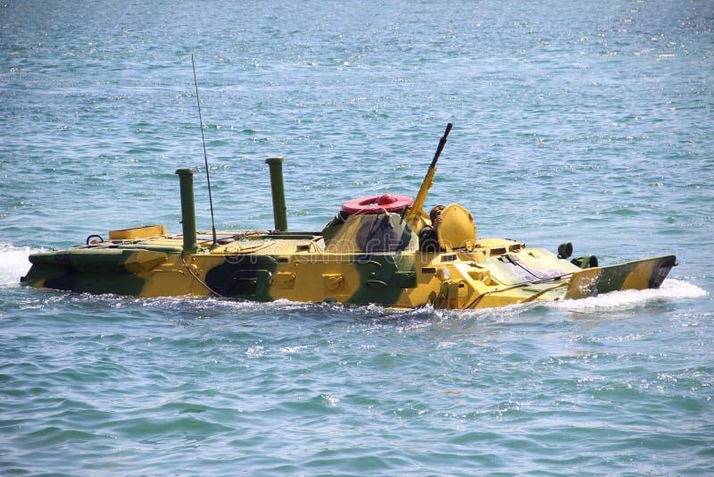 Atterrissages amphibies sur la côte photo stock