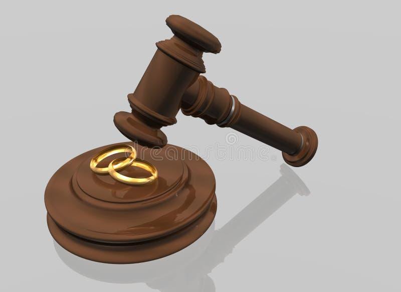 Atti di divorzio royalty illustrazione gratis