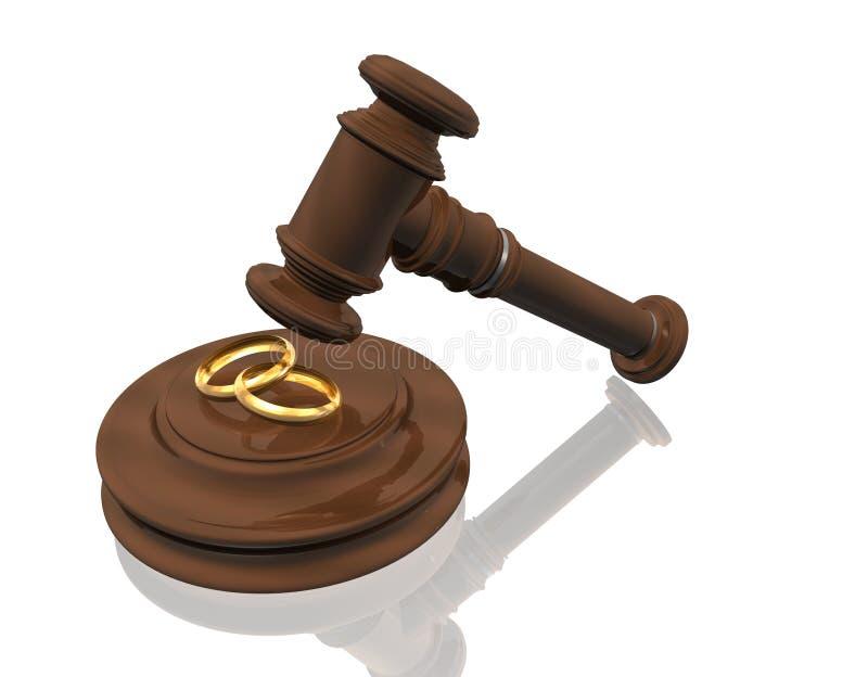 Atti di divorzio illustrazione vettoriale
