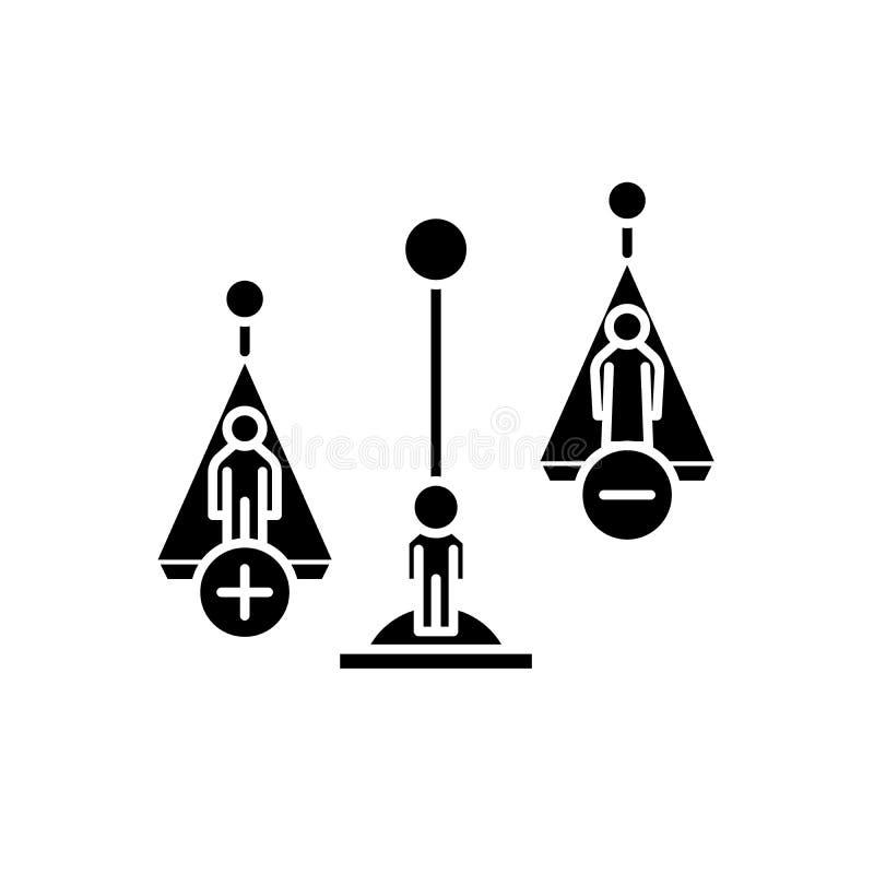 Atti icona nera, segno di divorzio di vettore su fondo isolato Simbolo di concetto di atti di divorzio, illustrazione royalty illustrazione gratis