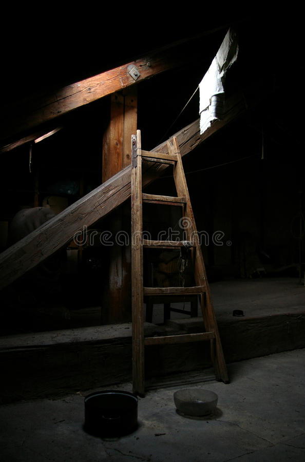 At attic stock photos