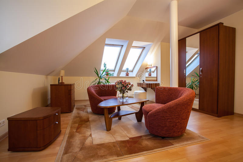 Download Attic stock photo. Image of attic, furniture, real, flat - 28022988