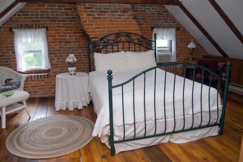 Download Attic bedroom stock photo. Image of bedspread, home, architecture - 26778804