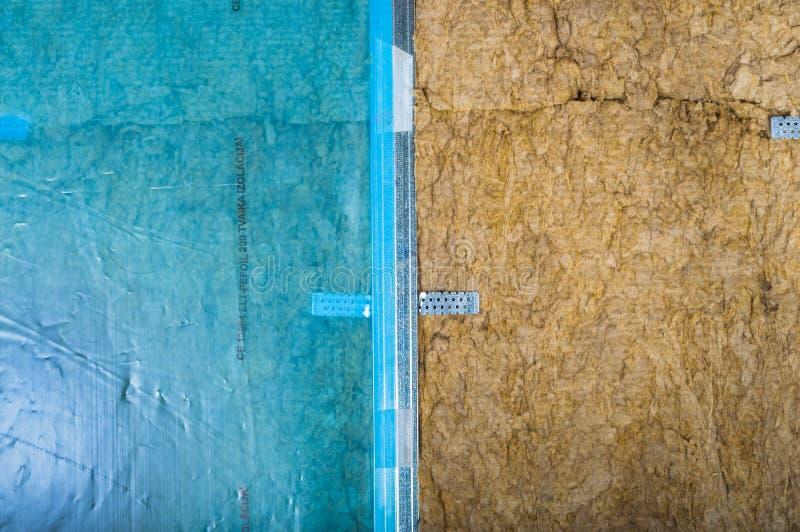 Attic loft insulation royalty free stock photography