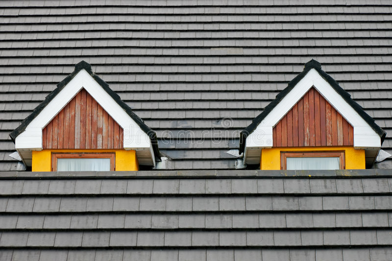 Download Attic loft windows stock image. Image of tile, roofing - 9188041
