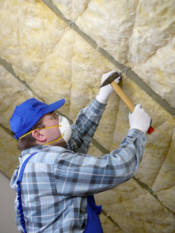 Download Attic thermal insulation stock photo. Image of fixing - 18820870