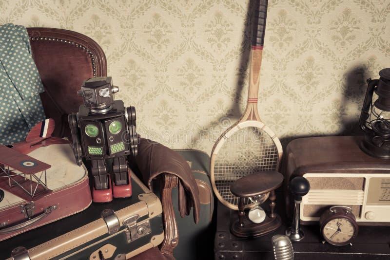 Attic vintage treasures stock images
