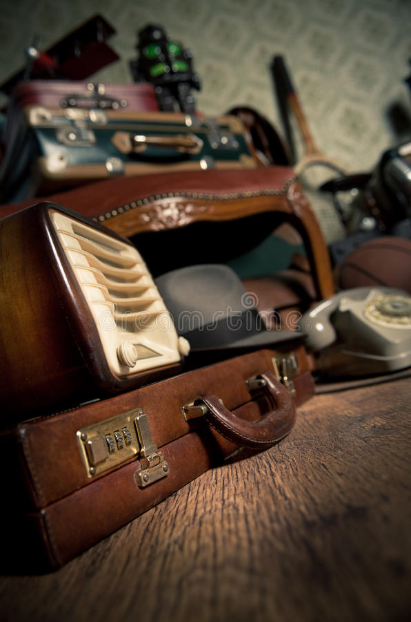 Attic vintage treasures royalty free stock images