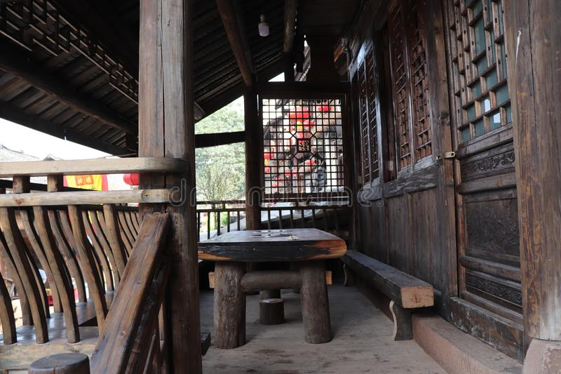 Attic of Chinese classical architecture stock image