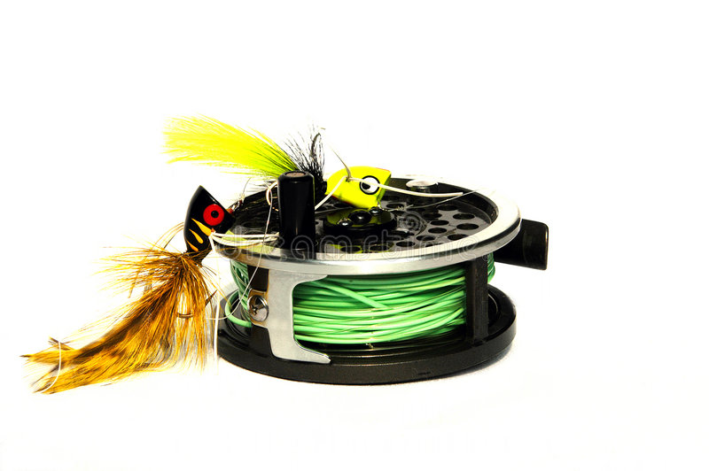 Attirails de pêche images stock