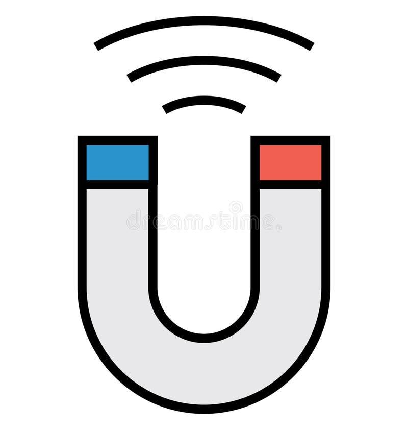 Attirando i clienti, l'icona di vettore isolata magnete può essere facilmente pubblica e modifica illustrazione vettoriale