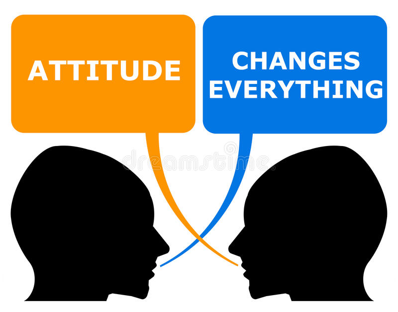 Attitude. Changes everything (both in a positive and negative way vector illustration