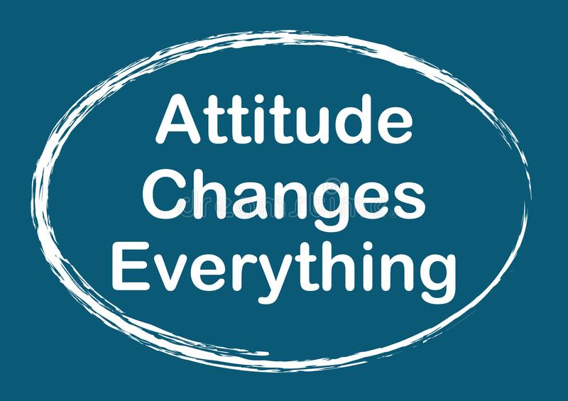 Attitude Changes Everything Quote phrase Vector illustration vector illustration