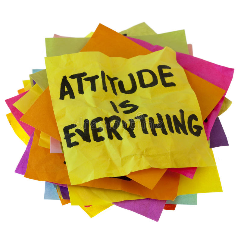 Download Attitude is everything stock image. Image of note, slogan - 12685691